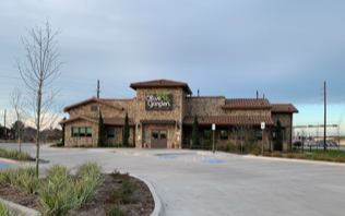 - Olive Garden: Colt Concrete supplied the concrete for establishment located in Grand Parkway Marketplace at SH99 and Kuykendahl