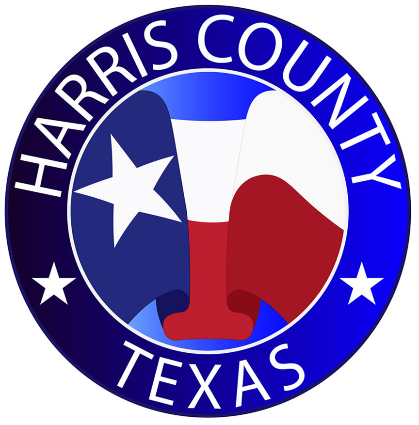 Coat of arms of Harris County is a county located in the U.S. state of Texas, United States. Vector illustration